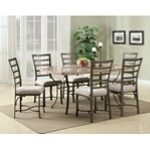 Faux marble dining table sets