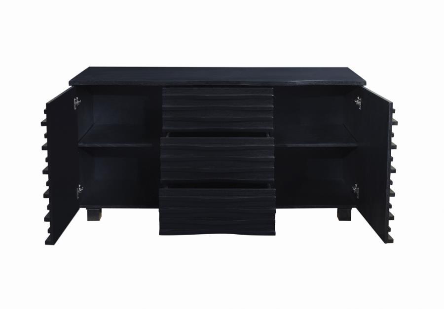 CST102065 Stanton black wood finish contemporary server