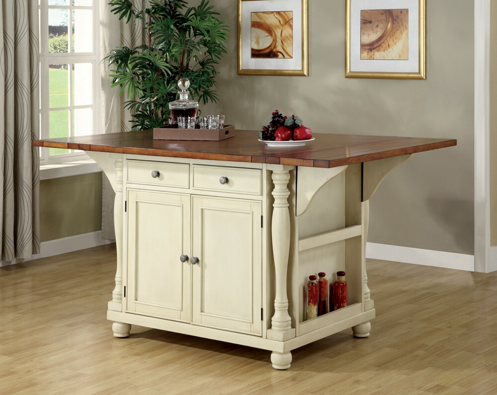 102271 Martha Antique Country Style Buttermilk Cherry Finish Wood