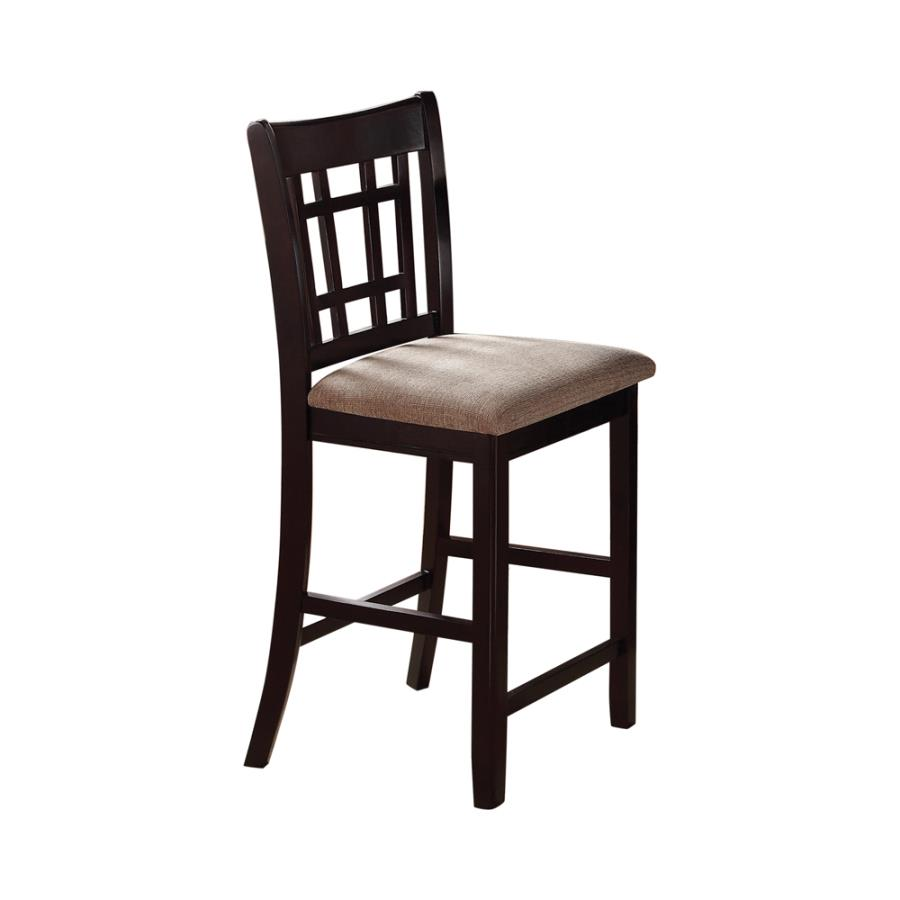 105279 Set of 2 Wildon home avonlea lavon espresso finish wood counter height dining chairs