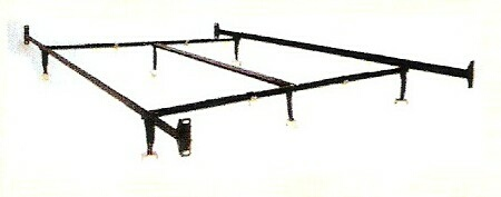 HB-1207HF Cal king size non adjustable style bed frame with glides with headboard / footboard attachment
