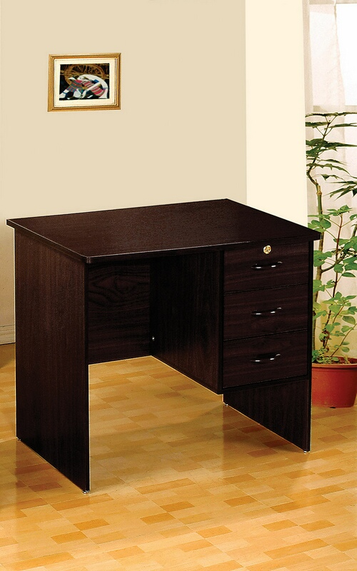 ACM12110 Espresso finish wood office work desk with drawers
