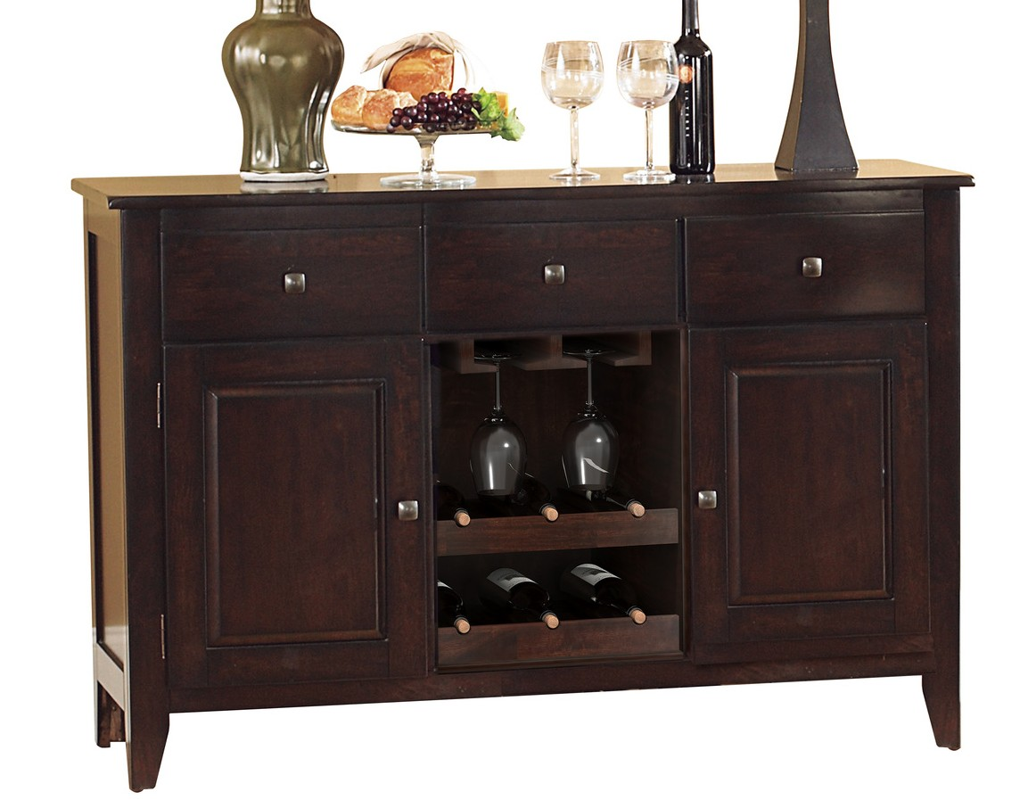 Homelegance 1372-40 Canora grey crown point finish wood server buffet console cabinet