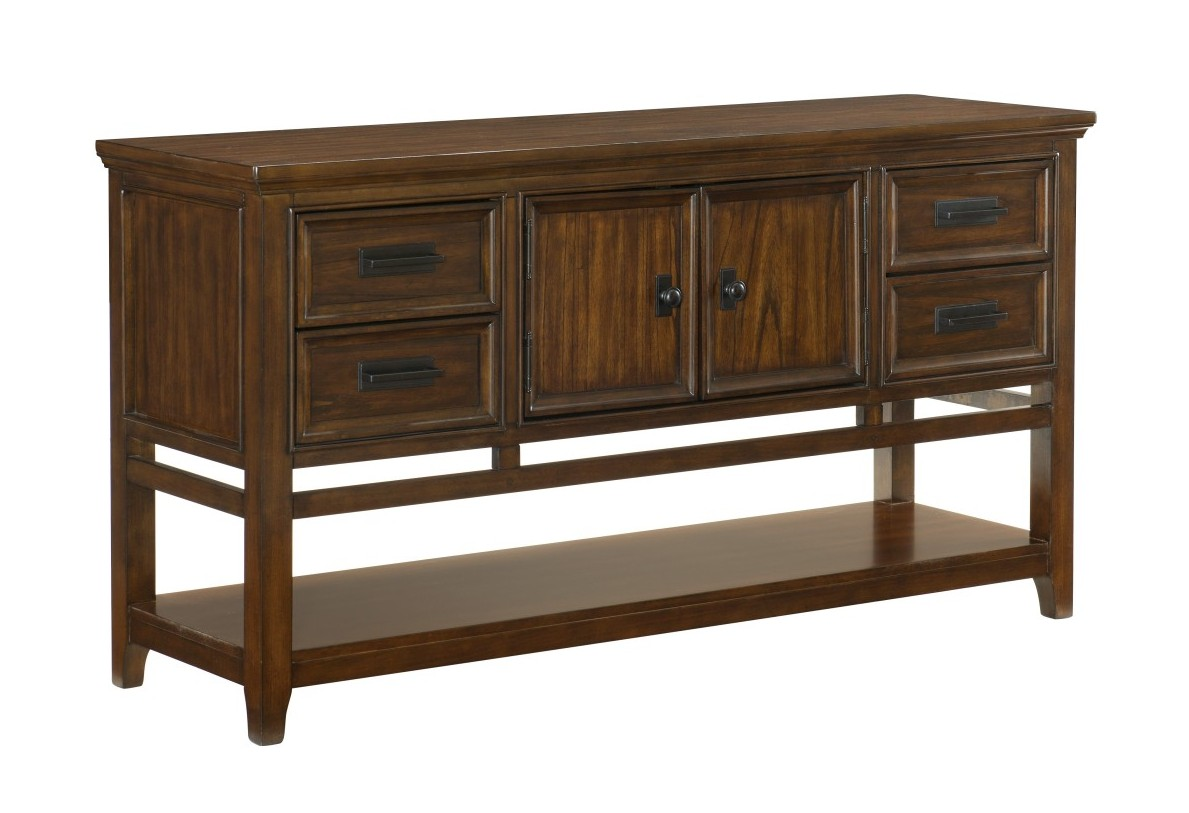 Homelegance 1649-40 Darby home co frazier brown cherry finish wood side server buffet console