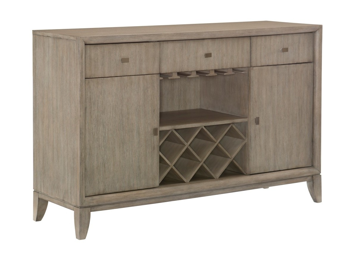 Homelegance 1820-40 Darby home co mckewen light gray oak finish wood curio cabinet side server buffet console