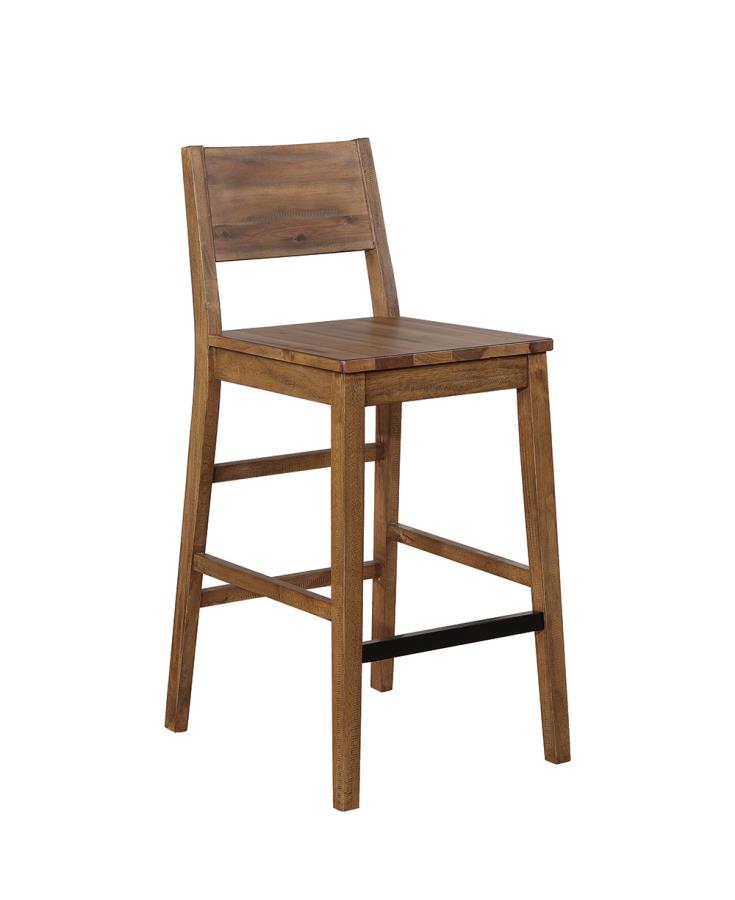 182192 Set of 2 Foundry select raeann rustic tucson varied natural finish wood bar height stools