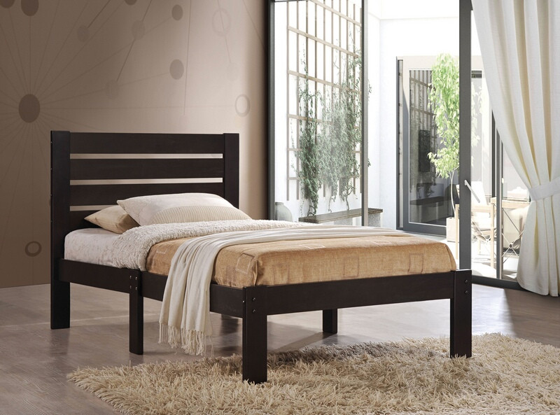 Acme 21083F Kenney espresso finish wood paneled headboard full bed