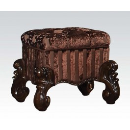 ACM21108 Versailles collection cherry oak finish wood bedroom make up vanity stool