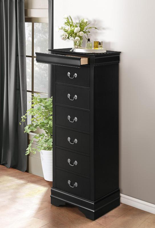 Homelegance 2147BK-12 Mayville burnished black finish wood 7 drawer lingerie chest