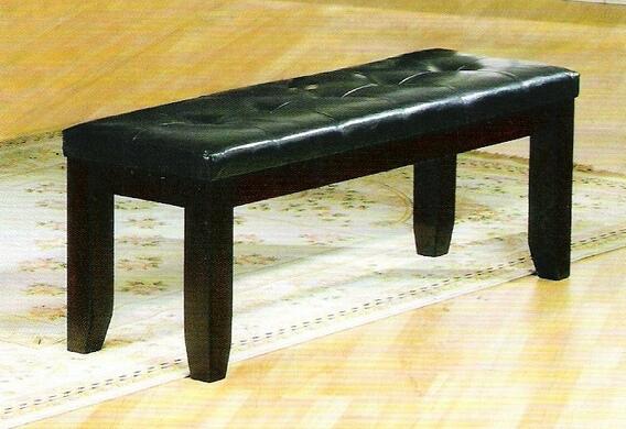 2152-Bench Vinyl upholstered seat top with wood trim bedroom bench