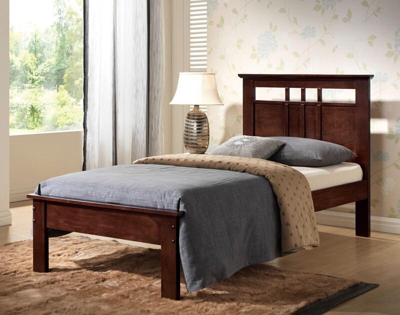 Acme 21522T Donato espresso finish wood paneled headboard twin bed