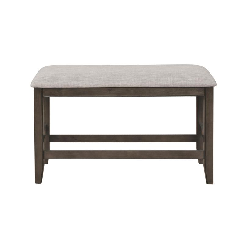 2727GY-Bench Fulton grey wood finish counter height dining table bench