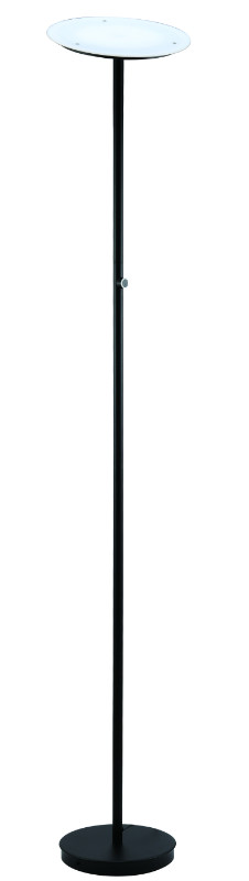 "SH Lighting SH-3035F-BK Palacial II built in LED torchiere floor lamp 70"" h black 4 step touch switch"