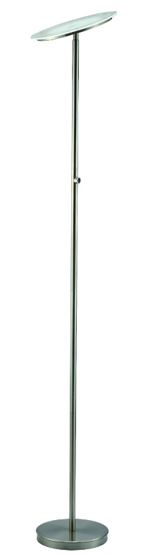 """SH Lighting SH-3035F-SN Palacial II built in LED torchiere floor lamp 70"""" h silver 4 step touch switch"""