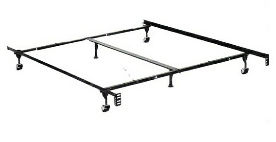 3070BL Queen / Cal king / Eastern king size deluxe lev-r-lock bed frame with rug rollers with headboard attachment
