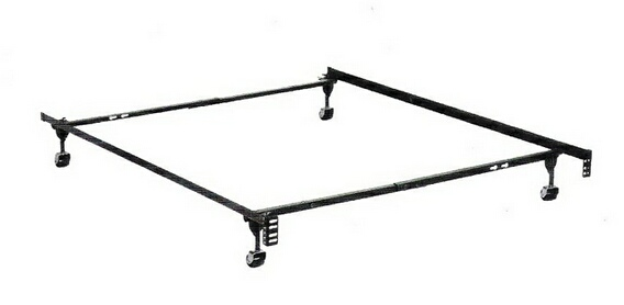 HB-3150BL Twin / full size supreme atlas-lock bed frame with rug rollers with headboard attachment