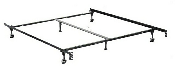 HB-3170BL Queen / cal king / eastern king size supreme atlas-lock bed frame with rug rollers with headboard attachment