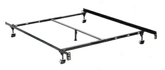 HB-3266BR Twin / full / queen size premium lev-r-lock bed frame with rug rollers with headboard attachment