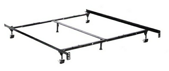 3270BR Queen / Cal King / Eastern King size premium lev-r-lock bed frame with rug rollers with headboard attachment