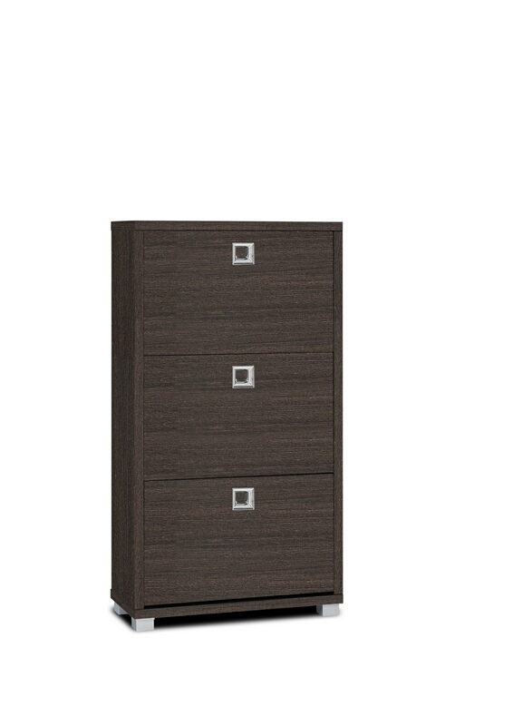 3345-ESP Espresso finish wood 3 cabinet drawers shoe cabinet