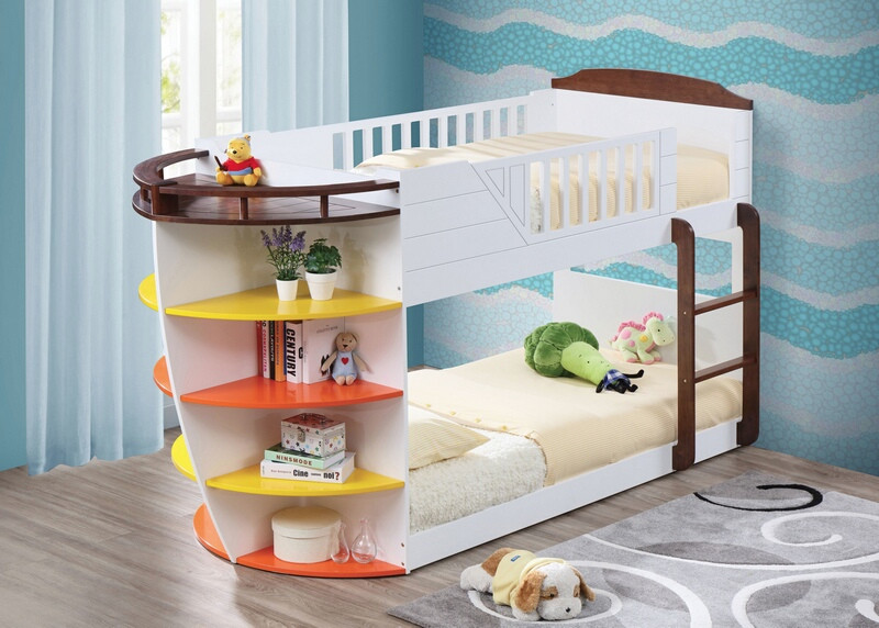 Acme 37715 Zoomie kids ketterer neptune nautical boat design white finish wood twin over twin bunk bed