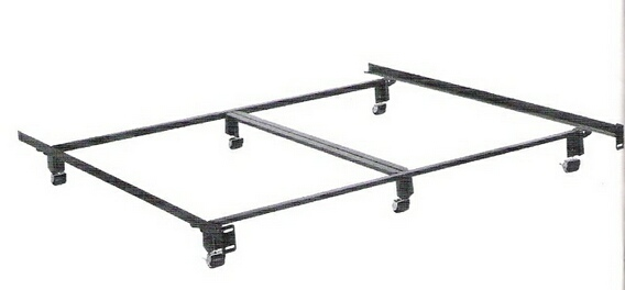 HB-4066BR Cal king size elite holly-matic bed frame with rug rollers with headboard attachment