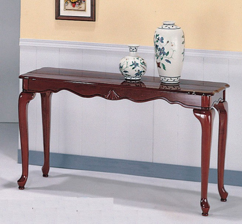 441a Sf Cheshire Ii Cherry Finish Wood Sofa Console Entry Table