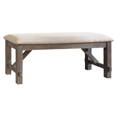 457-260 Clearance Turino collection grey oak finish wood dining table bench.