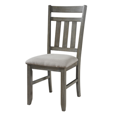 457-434 Clearance Set of 2 turino collection grey oak finish wood dining table chairs