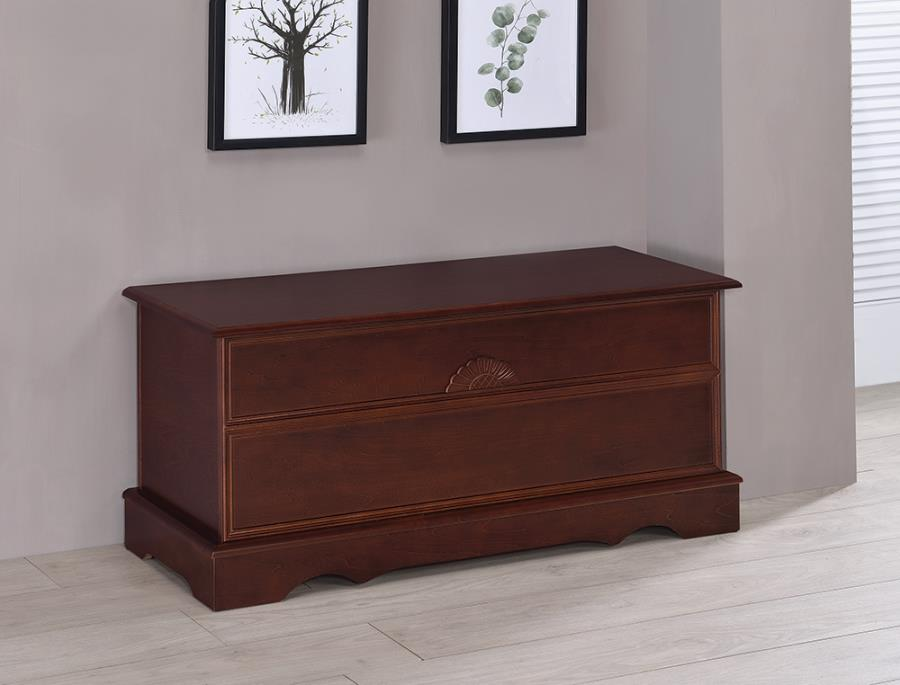 4694 Astoria grand garrard warm brown finish wood cedar hope chest storage bench