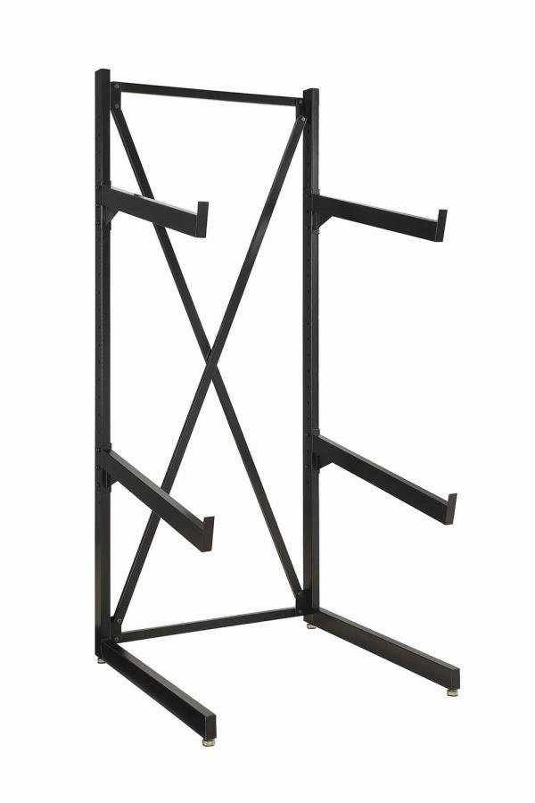 500500 2 Tier black finish metal sofa rack stand