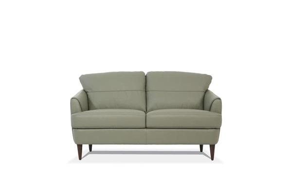 Acme 54571 Brayden studio kyser helena Mi Piace modern moss green top grain leather love seat