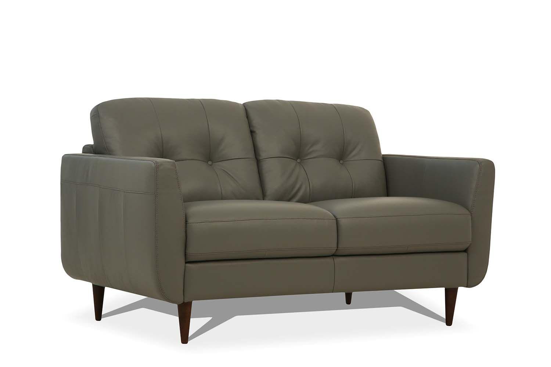 Excellent Acme 54961 Radwan Mi Piace Modern Pesto Green Top Grain Leather Love Seat Creativecarmelina Interior Chair Design Creativecarmelinacom
