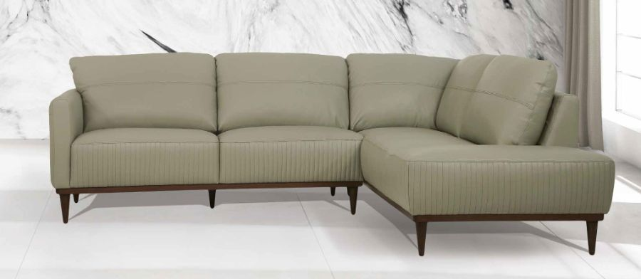 Acme 54975 2 pc Brayden studio kyser tampa airy green top grain leather sectional sofa set