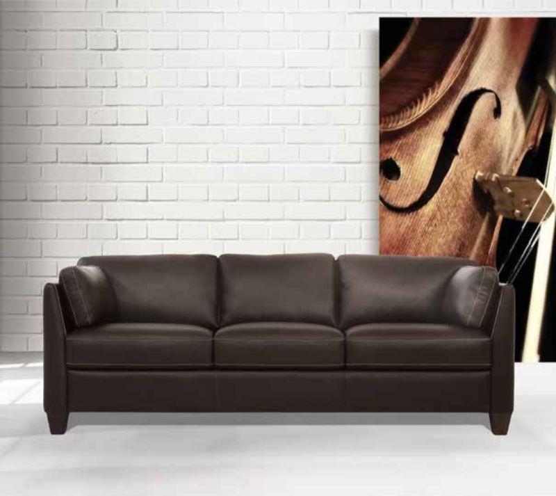 Acme 55010 Winston porter jemma Matias Mi Piace modern chocolate top grain leather sofa