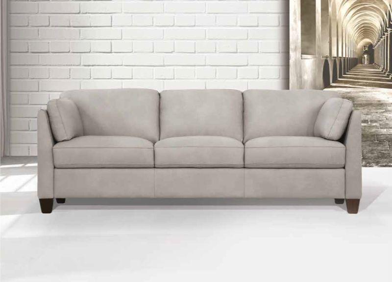 Acme 55015 Winston porter jemma Matias Mi Piace modern dusty white top grain leather sofa