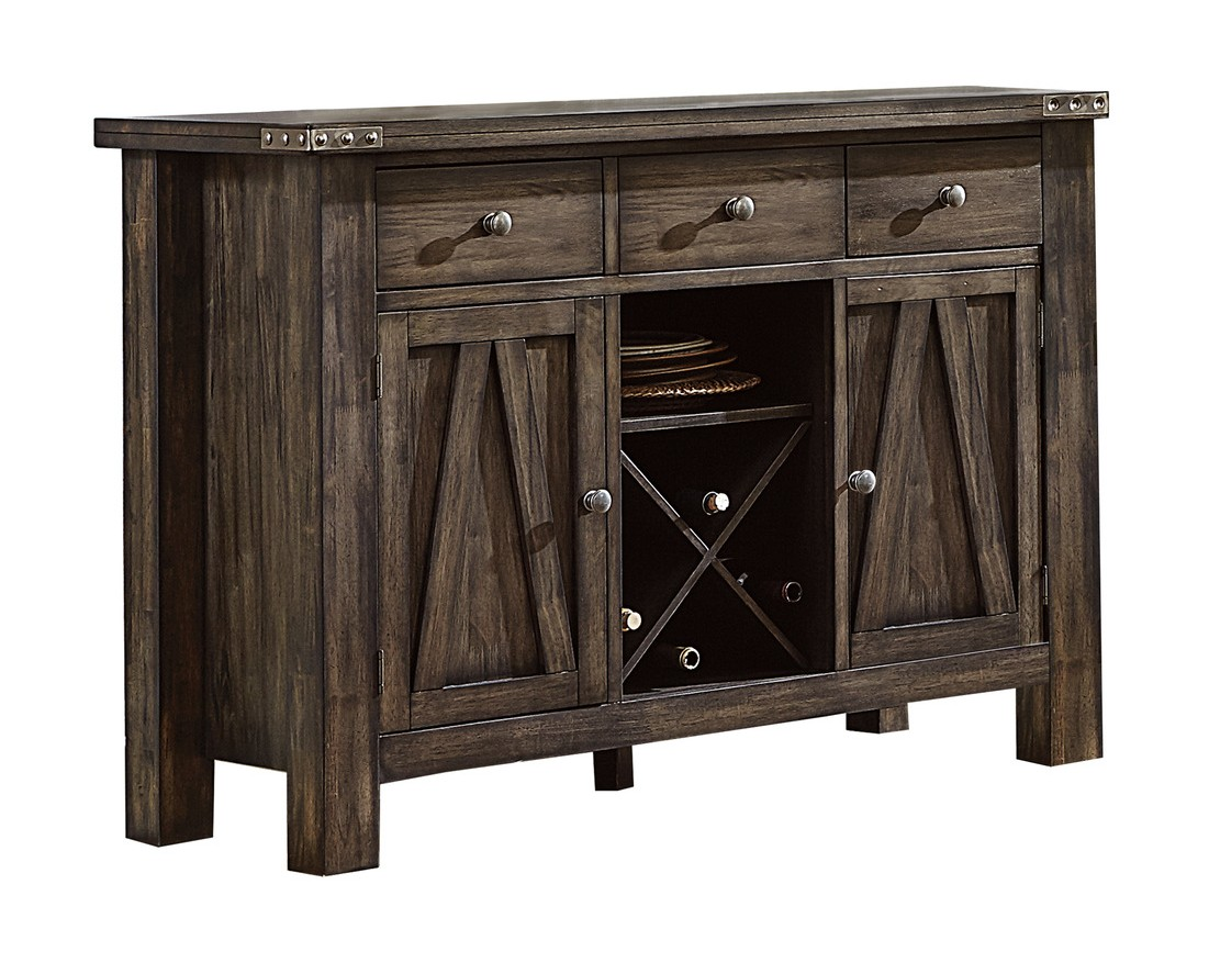 Homelegance 5518-40 Darby home co mattawa brown finish wood side server buffet console
