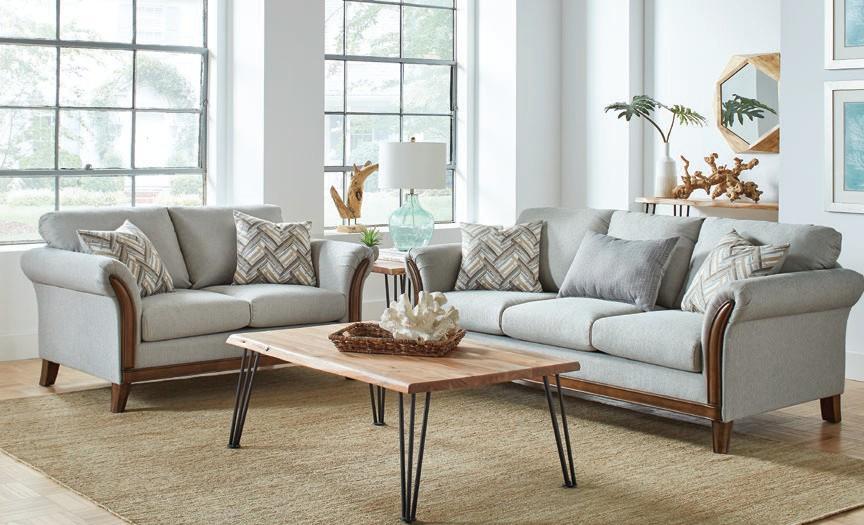 552071-72 2 pc Orren ellis mullens Roxanne platinum woven fabric sofa and love seat set