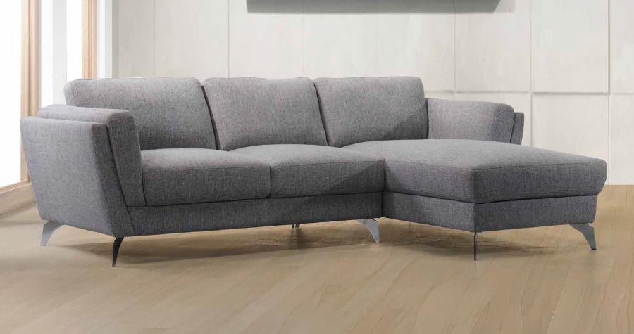Acme 57155 2 pc Alcott hill bracken beckett gray fabric sectional sofa set