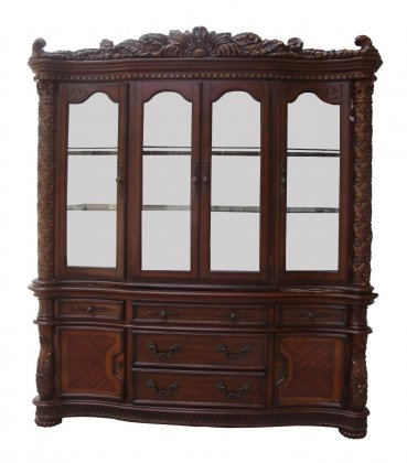 ACM60006 Vendome collection cherry finish wood dining hutch and buffet set