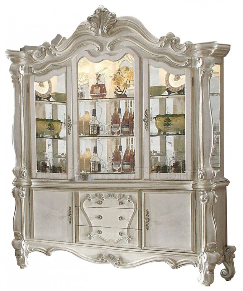 Terrific Acme 61134 Versailles Bone White Wash Finish Wood Hutch And Buffet Download Free Architecture Designs Scobabritishbridgeorg