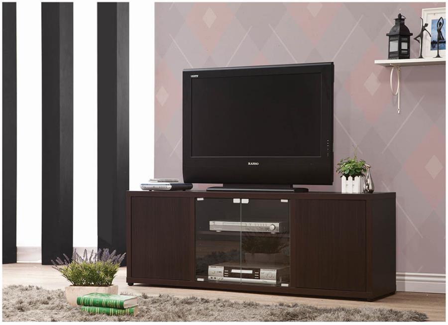 700886 Latitude run rubidoux espresso finish wood modern tv stand console