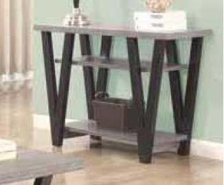 CST705399 Wildon collection antique grey and black finish wood sofa table
