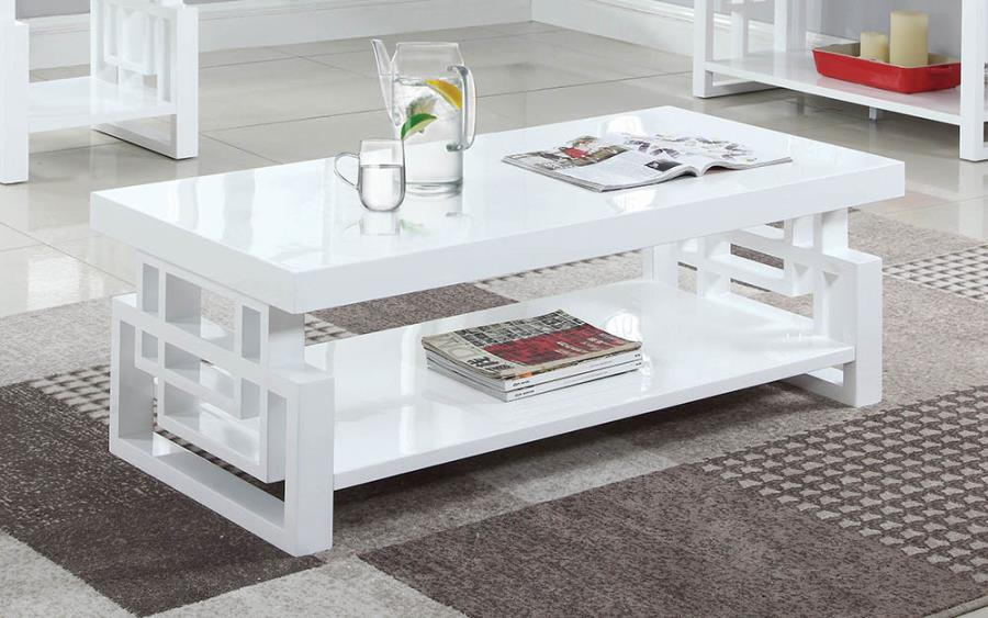 705708 Orren ellis braud modern artistic glossy white coffee table