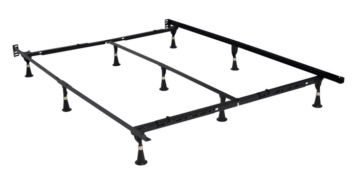 7079-BSG All Sizes in one E3 premium bed frame Twin, Twin XL, Full, Queen, Cal King, Eastern King with headboard attachment