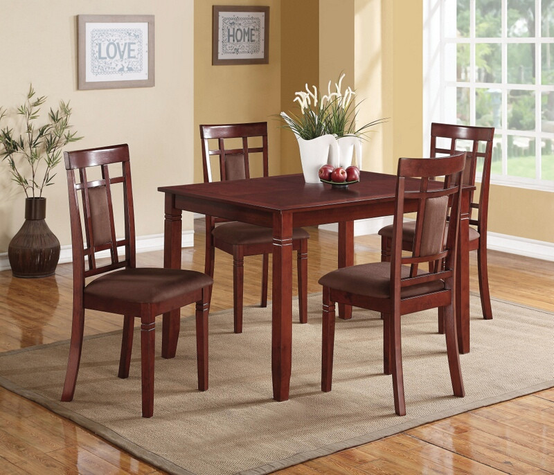 Acme 71164 5 pc Sonata cherry finish wood dining room table set