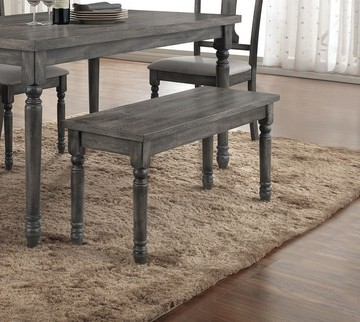 ACM71438 Wallace collection weathered washed blue finish wood dining / bedroom bench