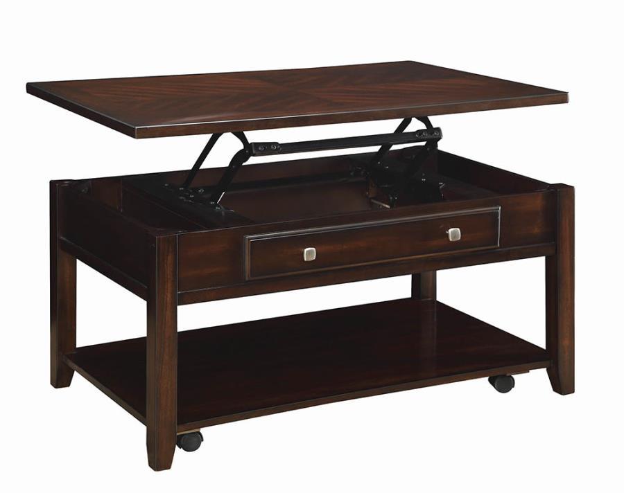 721038 Wildon home red barrel studio divisadero walnut finish wood lift top coffee table