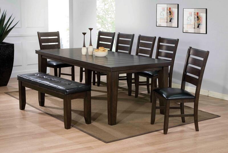 Acme 74620-24-25 6 pc urbana country espresso finish wood dining table set