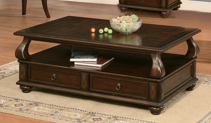 Acme 80010 Canora grey chulmleigh amado walnut finish wood coffee table